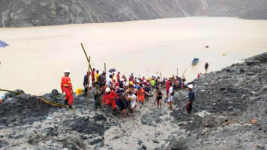 Landslide at Myanmar jade mine leaves at least 126 dead